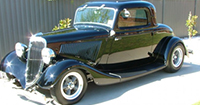 Steel 1934 Ford 3 window Coupe